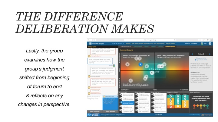 The Difference Deliberation Makes