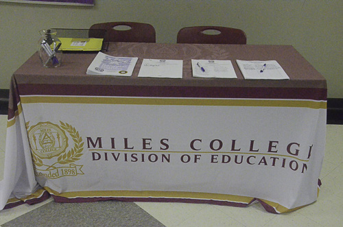 Miles College registration table