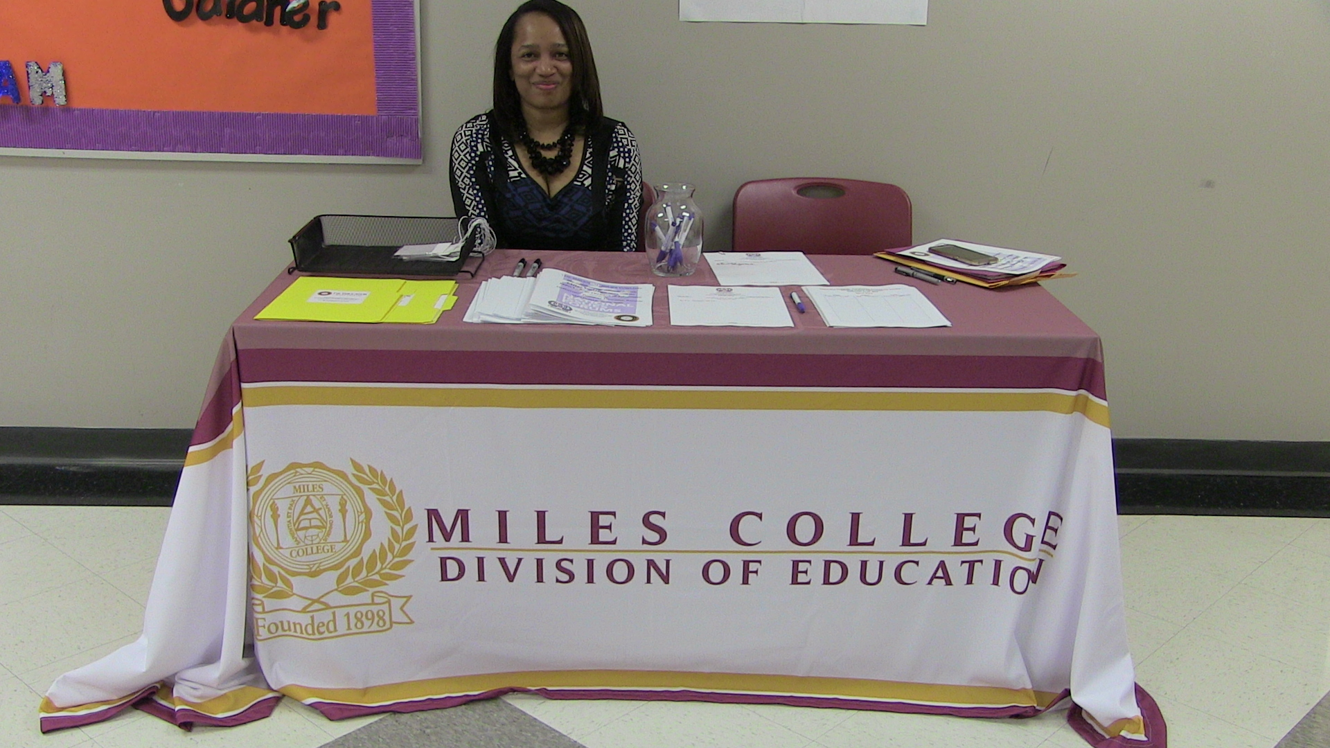 Workshop registration at Miles College