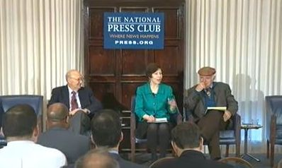 Bill Muse, Jean Johnson, and Harry Boyte at the National Press Club