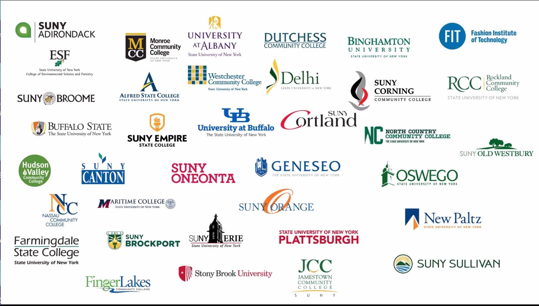 SUNY system campus logos