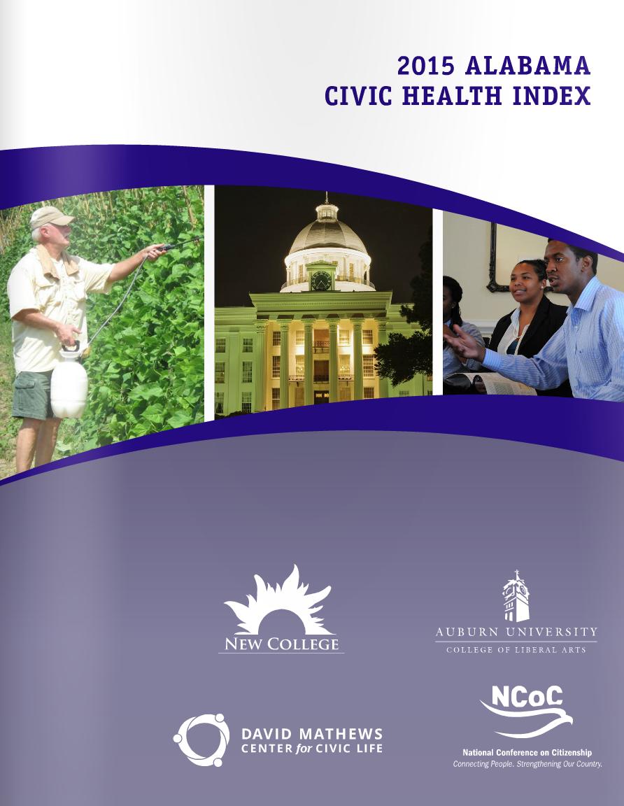cover of 2015 Alabama Civic Health Index