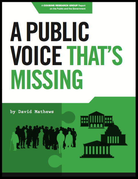 A Public Voice That's Missing
