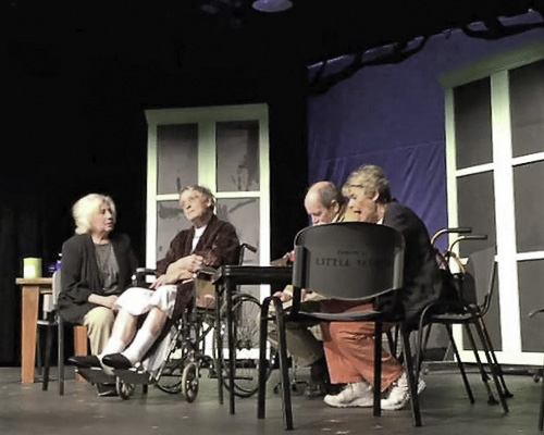scene from Bridge Club of Death play
