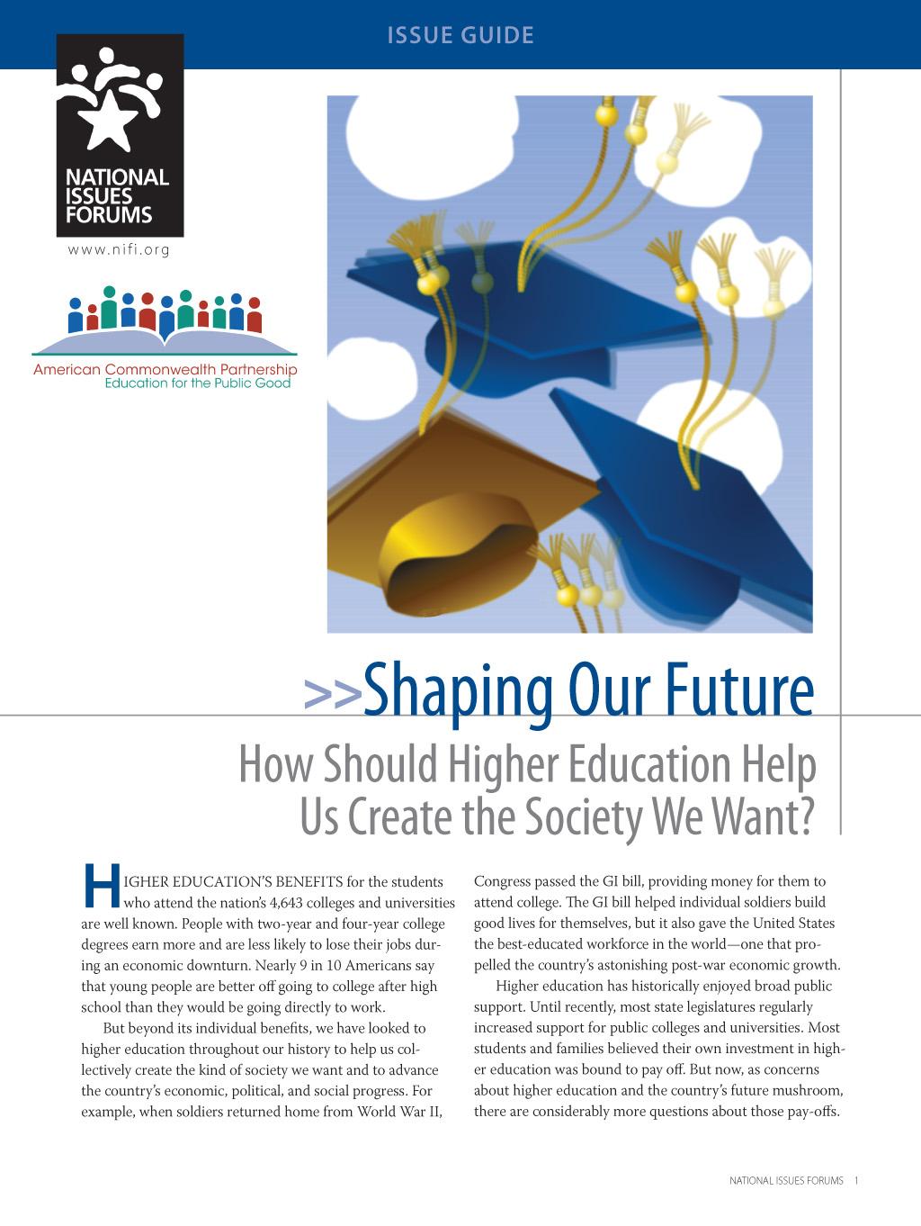Shaping Our Future | NIFI