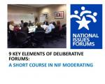 Nine Key Elements of Deliberative Forums