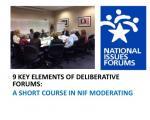 Nine Key Elements of Deliberative Forums